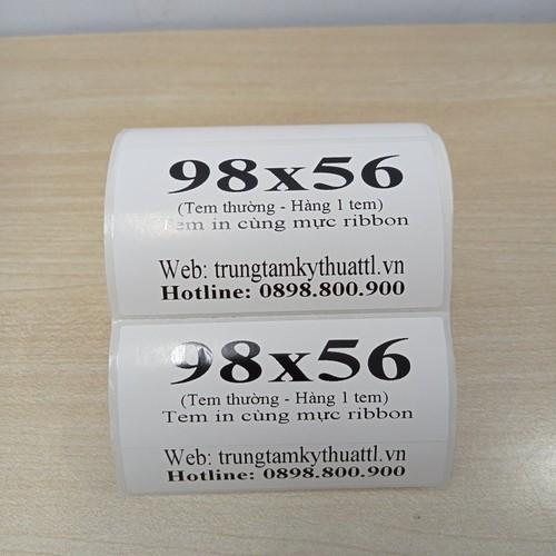 Giấy in mã vạch 1 tem 98x56 mm - decal mã vạch