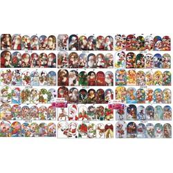 Sticker 3D Noel Giáng Sinh Tuyệt Đẹp Mẫu Mới 2021- Trang Trí Móng Nail Nghệ Thuật Mùa Giáng Sinh - Lẻ 1 Cái