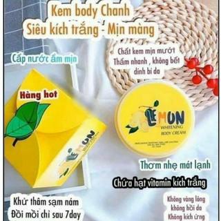 KEM BODY TRẮNG DA LEMON ( có tem thật ) - Tặng 1 Gói Tắm Trắng Lemon - HÀNG GIA CÔNG CHUẨN F1 thumbnail