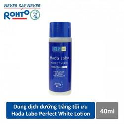 Dung dịch dưỡng trắng vượt trội, chống lão hóa da Ha.da. La.bo Perfect White 40ml - ROHTO