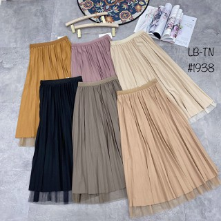 Chân váy xòe dáng dài hai mặt ren gấu không ánh nhũ TV1938 - CVVL 2022 thumbnail