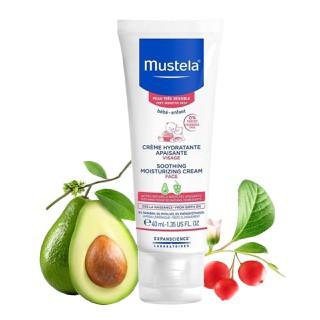 Kem Dưỡng Da Mặt Cho Bé Có Da Nhạy Cảm - Soothing Moisturizing Cream Mustela 40ml - PVN1127 thumbnail