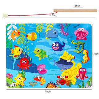 Đồ chơi gỗ - Đồ Chơi gỗ, Bộ đồ chơi câu cá bằng gỗ cho trẻ [ĐƯỢC KIỂM HÀNG] - 37396283 thumbnail