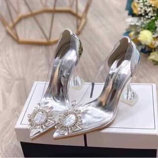 Giày nữ Gót trong đính đá - D53 thumbnail