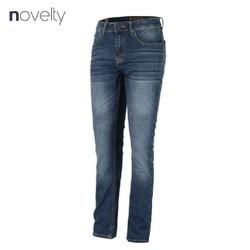 Quần jeans dài nam Novelty màu xanh dương wash ống 1701150