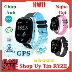 Đồng hồ thông minh định vị trẻ em HW11 Định vị GPS chính xác, Chống nước 3ATM, Tiếng Việt 100% Món quà tuyệt vời dành cho bé