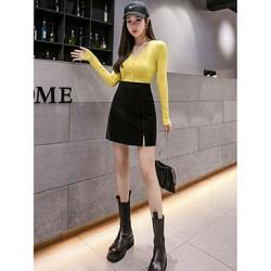 Chân Váy Da Nhung Quảng Châu Nhiều Màu
