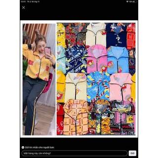 Bộ lụa Hàn tay dài, quần cotton cực kỳ sang đe p - 0104 thumbnail