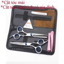 Bộ kéo cắt tóc cho bé và gia đình cao cấp nhập khẩu A1 thép Nhật Bản sắc bén bền bỉ
