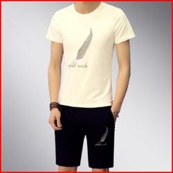 Bộ quần áo nam DB02 hình lông vũ giá rẻ