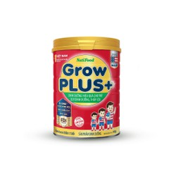 Sữa bột GrowPLUS+ Đỏ lon 900 Gr: sữa dành cho trẻ từ 1- 10 tuổi bị suy dinh dưỡng thấp còi (mẫu mới) của NutiFood