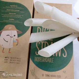 Ống hút gạo dùng cho trà sữa 15mmx22xm 50 ống hộp - OHG15 thumbnail