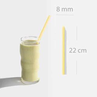 Ống hút gạo dùng cho sinh tố đá bào 8mmx22cm 100 ống hộp - OHG800 thumbnail