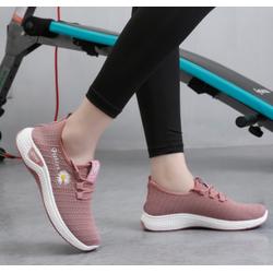 Giày Sneaker Thể Thao Nữ hoa cúc có dây buộc cực hót 2020