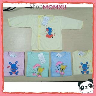 Combo 3 Áo Dài Tay Sơ Sinh Baby 100 Cotton Cúc Cài Lệch Cho Bé - 3461587753 thumbnail