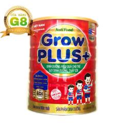 Sữa bột GrowPLUS+ Đỏ lon 1.5kg : sữa dành cho trẻ từ 1- 10 tuổi bị suy dinh dưỡng thấp còi (mẫu mới) của NutiFood