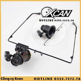 Kính lúp sửa đồng hồ 1 mắt zoom 20x có đèn Xcan cao cấp - Xcan210de3210 thumbnail