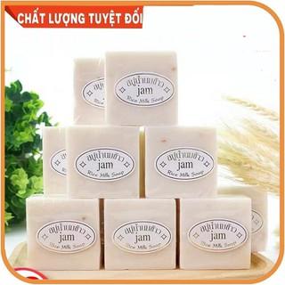 Combo 12 bánh xà phòng tắm cám gạo Jam Rice Milk Soap Thái Lan 75g - Làm sạch, dưỡng ẩm, khử mùi da - Xà phòng tắm trắng da - BH848 thumbnail