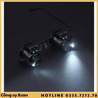 Kính lúp 2 mắt 20X có đèn Led - Xcan210s1q210led thumbnail