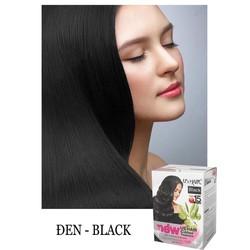 (màu đen) dầu gội nhuộm tóc phủ bạc USA US HAIR HỘP 10 GÓI