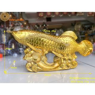Tượng Cá Chép Hóa Vượt Sóng Hóa Rồng Bằng Đồng Thau Phong Thủy Trí Tuệ Phát Huy Học Vấn-Cá Rồng - TCRPT thumbnail