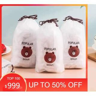 Túi bọc thực phẩm gấu-Sét 100 màng bọc thực phẩm túi gấu - 1037_37419058 thumbnail