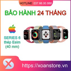 Đồng hồ Apple Watch Series 6 thép 40mm Esim mới 100% nguyên seal bảo hành 24 tháng tại Xoăn Store