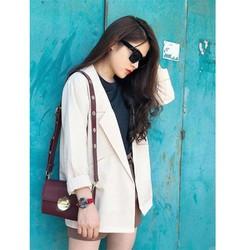 Áo Blazer Nữ Mỏng Một Lớp Màu Kem Sữa Chất Tuyết Mưa Cao Cấp Thô Đứng Dáng  Thời Trang Công Sở Vip