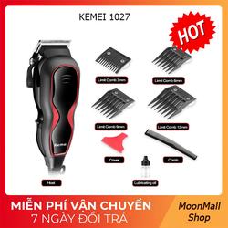 Tông đơ cắt tóc Kemei KM-1027 I Tông đơ điện I Tông đơn tặng 2 dụng cụ lấy ráy tai
