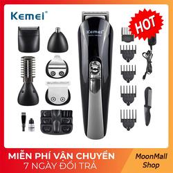 [TẶNG QUÀ]Tông đơ cắt tóc đa năng 6in1 Kemei KM-600 tặng 2 dụng cụ lấy ráy tai có đèn