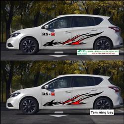 Decan trang trí xe hơi rồng bay trang trí xe ô tô sáng tạo và cá tính