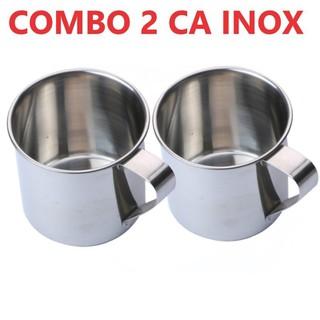 [COMBO 2 LY] Ly inox có quai uống nước. Ca làm đá có quai bằng inox Chất liệu inox đảm bảo an toàn cho sức khỏe - SADF thumbnail