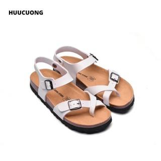 Sandal xỏ ngón trắng đế trấu - 2132 thumbnail