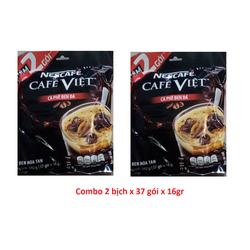 Combo 2 Bịch cà phê hòa tan Nescafe Café Việt Đen Đá - 35 gói x 16g