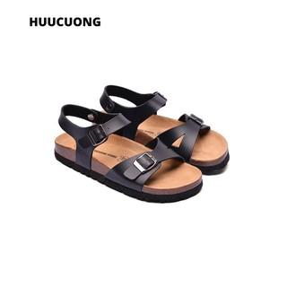 Sandal 1 khóa đen đế trấu - 2145 thumbnail