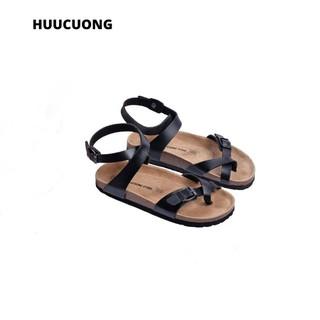 Sandal xỏ ngón cổ xoắn đen đế trấu - 2143 thumbnail