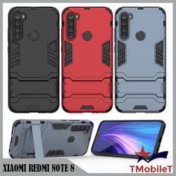 Ốp Lưng Xiaomi Redmi Note 8 IRON MAN chống sốc Bảo Vệ Điện Thoại Có Chân Chống Xem Video