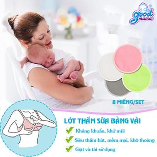 hộp 8 miếng Lót thấm sữa vải tái sử dụng good mama - lót thấm sữa vải thumbnail