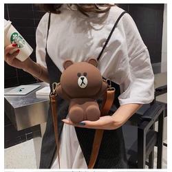 Túi đeo chéo nữ mini con gấu dễ thương thời trang cho trẻ em bé gái xách đi học làm chơi du lịch