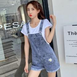 [TRỢ SHIP_CÓ VIDEO] Quần yếm jean short YS11 - Quần yếm jeans nữ