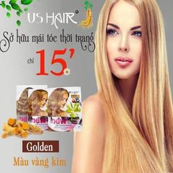 1 gói vàng kim) dầu gội thảo dược phủ bạc USA US HAIR