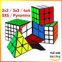 Rubik 2x2 3x3 4x4 5x5 Tam Giác Viền Đen Hãng MoYu Cao Cấp