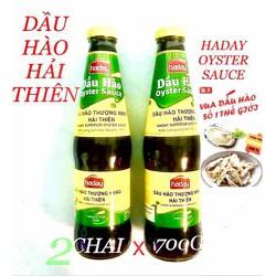 COMBO 2 CHAI DẦU HÀO THƯỢNG HẠNG HẢI THIÊN ( CHAI 700G ) HADAY SUPERIOR OYSTER SAUCE DATE 2022 NHẬP CHÍNH NGẠCH TỪ VEDAN Việt Nam