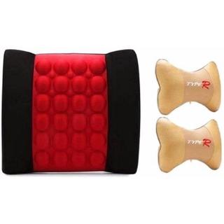 Bộ 1 đệm dựa lưng Massage điện và 2 gối đầu ghế xe bọc nỉ - SXACFAS32131 thumbnail