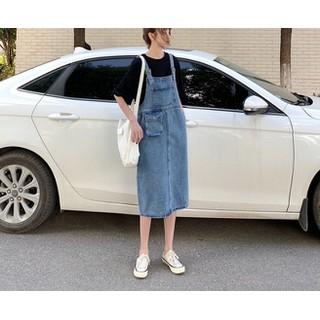 [CHẤT LƯỢNG_CÓ TRỢ PHÍ SHIP] Váy yếm jean dài túi to VYD05 - Đầm yếm jean dài cao cấp sale giá sốc [ĐƯỢC KIỂM HÀNG] 37567168 - 37567168 thumbnail