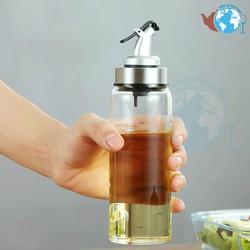 Bình, hũ đựng dầu ăn gia vị thủy tinh cao cấp 300 ml, Chai thủy tinh chia vạch đựng dầu ăn chiết rót