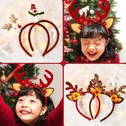 Cài tóc Noel bọc nhung phối sừng tuần lộc xinh yêu lung linh cho cả nhà thỏa sức chụp ảnh mùa Giáng sinh BBShine – NOEL009