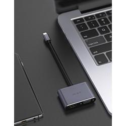 Hub Usb Type-c 4 cổng HDMI, VGA, Usb và sạc 60w cho Macbook, Nintendo Switch - JH z343 [ĐƯỢC KIỂM HÀNG] 37602892
