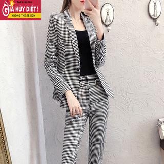 Set bộ vest cao cấp caro sang chảnh size M L XL 2Xl - AVNCC16 thumbnail