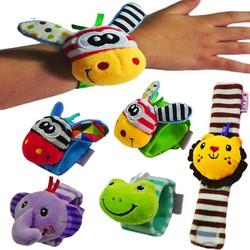 Vòng tay trẻ em bằng vải bông có lục lạc leng keng hình thú 3D lelebe ngộ nghĩnh vui nhộn cho bé BBShine – DC028